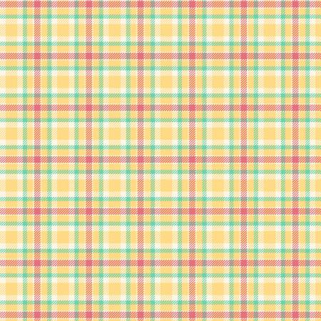 Primo Plaid Yarn Dyed Flannel - Yellow/Red/Green
