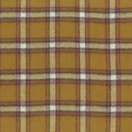 Gold Plaid Yarn Dyed Flannel