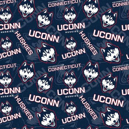 NCAA-Connecticut Huskies Cotton Fabric by Skytel