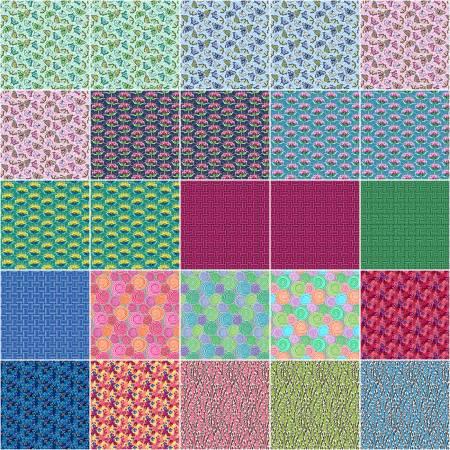 Under the Sun - Layer Cake 42 Pieces - by Modern Quilt Studio for Benartex
