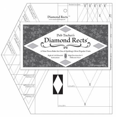 Studio 180 Design - Diamond Rects Ruler