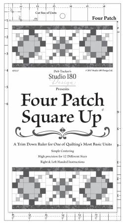 Four Patch Square Up - Trimmer - Deb Tucker - Studio 180 Design - DT17 - 722267735371