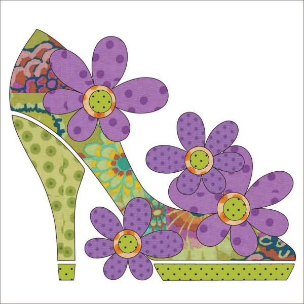 Stepping Out - Green Fabric Applique Kit