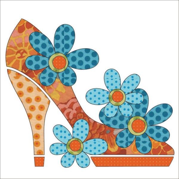 Stepping Out - Orange Fabric Applique Kit