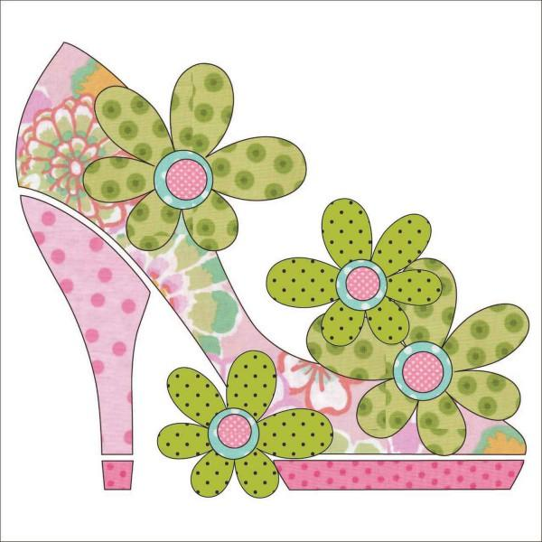 Stepping Out - Pink Fabric Applique Kit