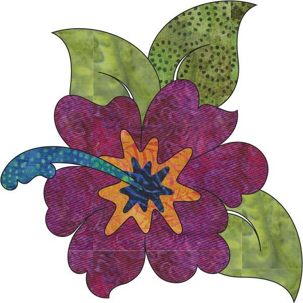 Applique Hawaian Holiday-Batiks