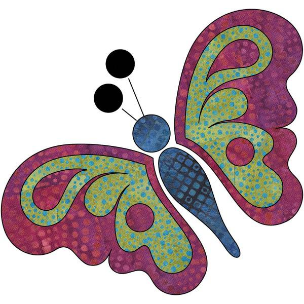 Laser Cut Fusible Applique Butterfly Front View