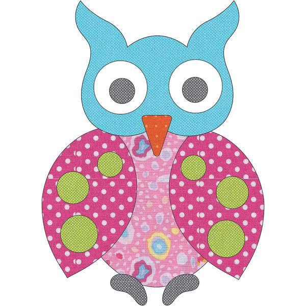 Laser Cut Fusible Applique Spotted Owl #7 Dotz UEA 0766D Urban Elementz