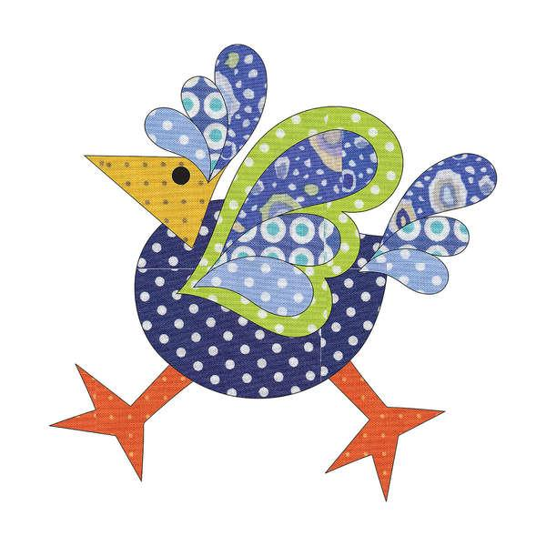 Laser Cut Fusible Applique Funky Chicken 2 Small Dotz