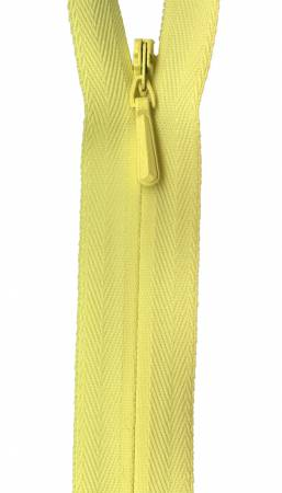 Unique Invisible Zipper Yellow 9in