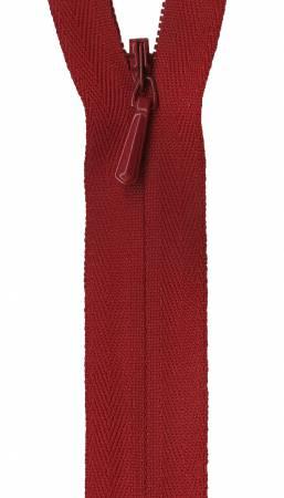 Unique Invisible Zipper Apple Red 9in