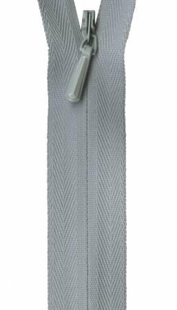 Unique Invisible Zipper Pearl Grey 9in