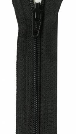 Unique Invisible Zipper Black 9in