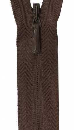 Unique Invisible Zipper Chocolate 14in