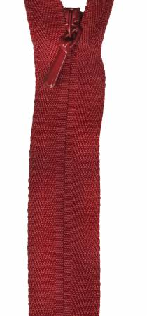 Unique Invisible Zipper Cranberry 22in