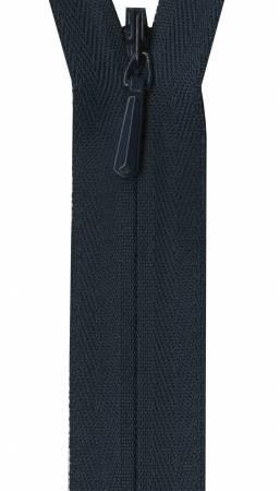 Unique Invisible Zipper Navy 22in