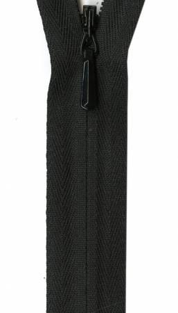 Unique Invisible Zipper Black 22in