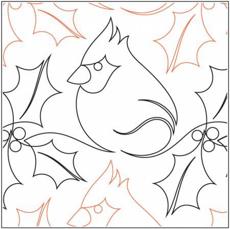 Christmas Cardinal Pantograph - 9in