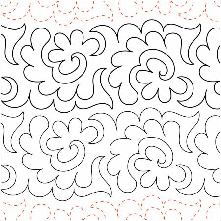 5in Flowers and Fronds Tear Away Paper pkg of four 48in sheets