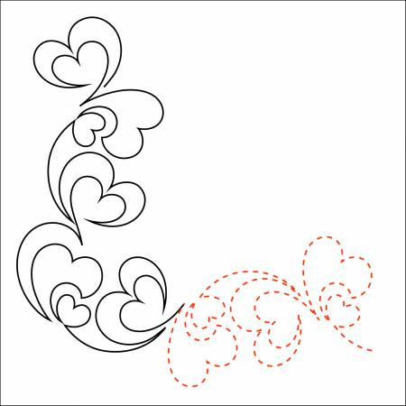 Urban Elementz -Tear Away Paper Pieces of My Heart - Corner (package of 4 - 48in sheets)