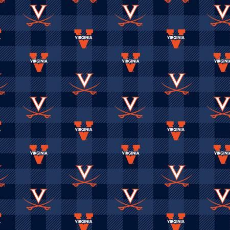 UVA Virginia Cavaliers Buffalo Plaid Fleece