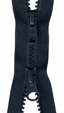 Vislon 2-Way Separating Zipper 30in Navy
