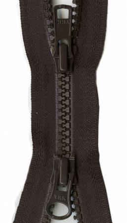 Vislon 2-Way Separating Zipper 30in Sable Brown