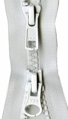 VISLON ACTIVEWEAR 2-WAY 36 INCH WHITE ZIPPER Y59 YKK