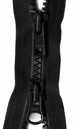 VISLON ACTIVEWEAR 2-WAY 36 INCH BLACK ZIPPER Y59 YKK