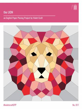 Lion English Paper Piecing Pattern - Violet Craft