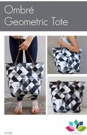 Ombre Geometric Tote Pattern