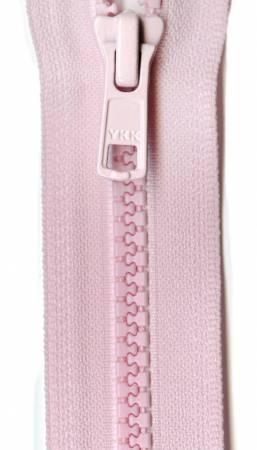 Vislon Closed Bottom Zipper 7in Baby Pink