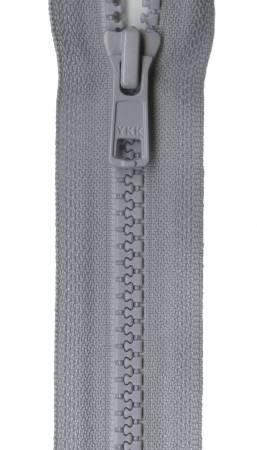 Vislon Closed Bottom Zipper 7in Foggy Gray