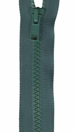 Fastrak 1-Way Separating Sport Zipper 18in Dark Green