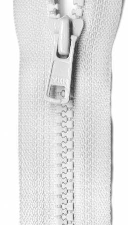 Fastrak Separating Zipper 24in White