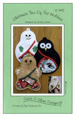 Christmas Trio of Pot Holders VL-1412
