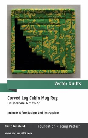 Curved Log Cabin Mug Rug 6 Pack