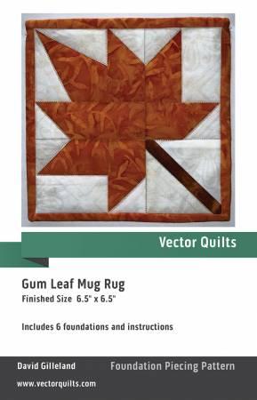 Gum Leaf Mug Rug 6pk