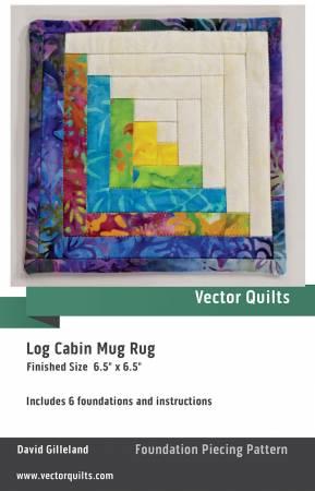 Log Cabin Mug Rug 6 pack