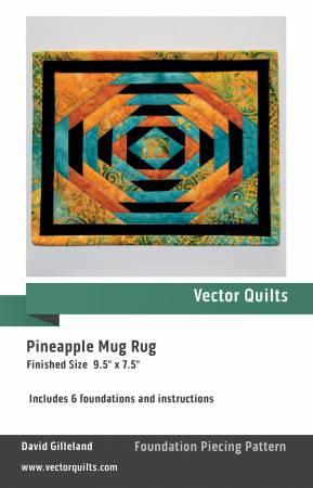 Pineapple Mug Rug 6pk