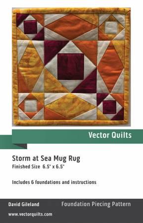 Storm At Sea Mug Rug 6