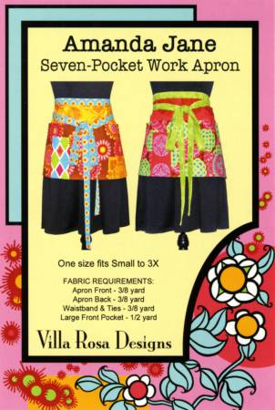Amanda Jane Seven Pocket Work Apron