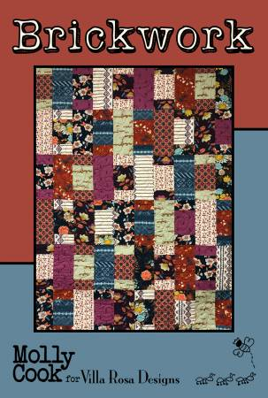 Brickwork Card Quilt Pattern by Molly Cook for Villa Rosa Designs