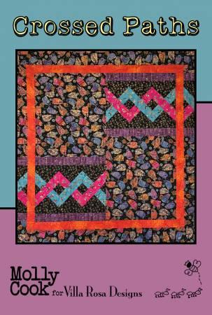 Crossed Paths - Villa Rosa - 46 x 50 - Theme/Yardage