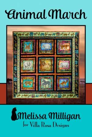 Animal March - Villa Rosa - 51 x 51 or 60 x 60 - Panel/Theme