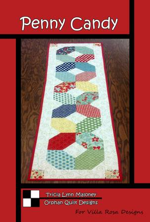 Penny Candy Table Runner pattern by Tricia Lynn Maloney