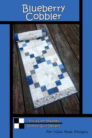 Blueberry Cobbler Table Runner Pattern 16x52