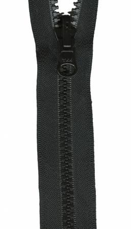 Reversible Separating Zipper 24in Black