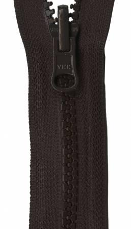 Vislon Reversible Separating Zipper 30in Sable
