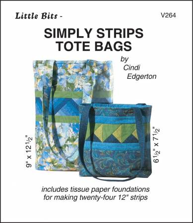Little Bits Simply Strips Tote Bags